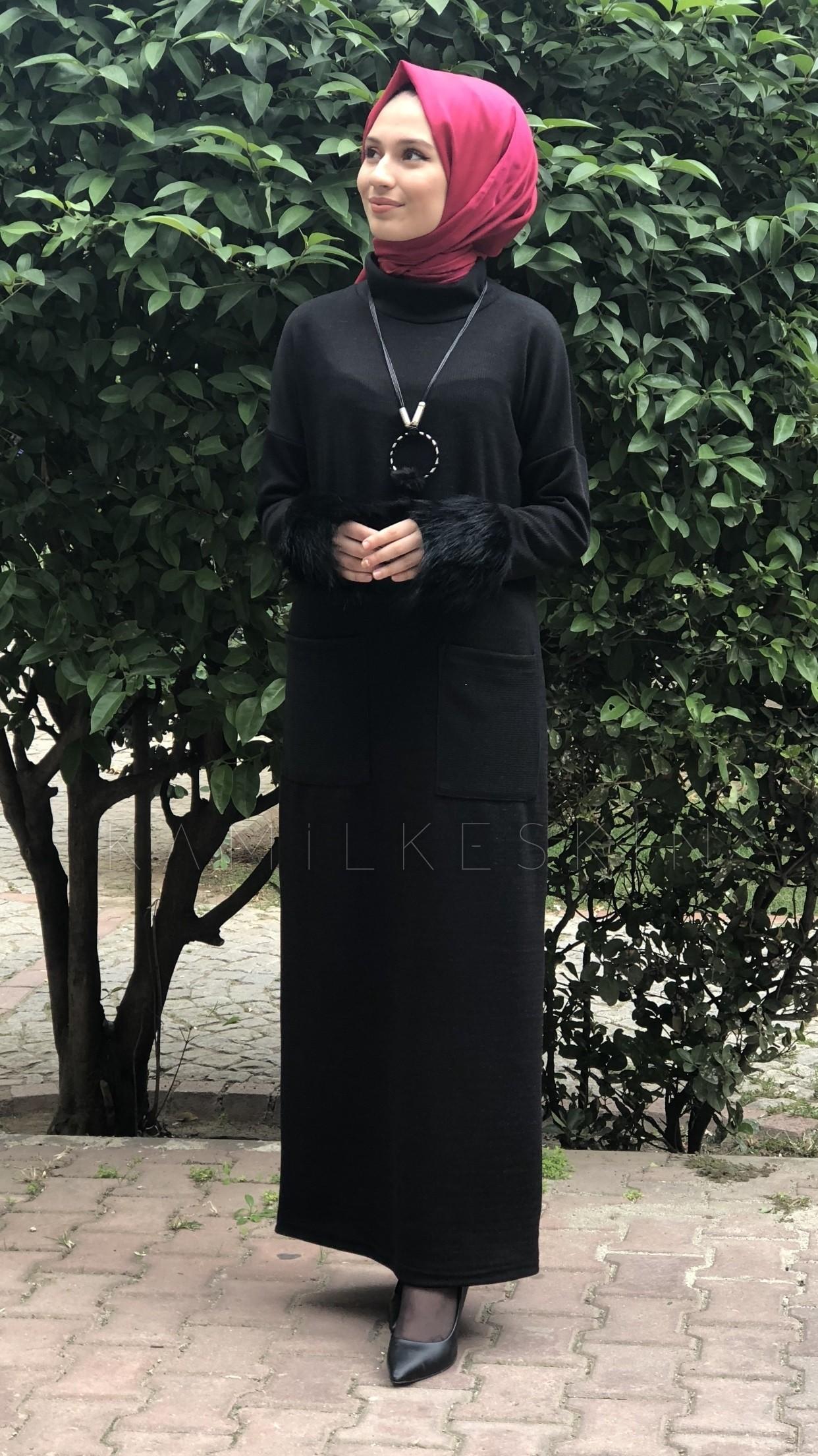 ELBİSE KOL KÜRKLÜ