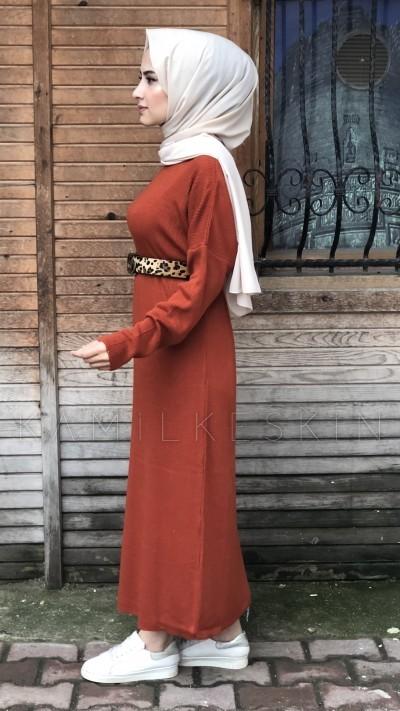 ELBİSE TRİKO BİSİKLET YAKA