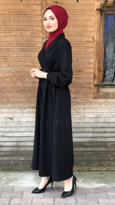 ŞAL YAKA ELBİSE