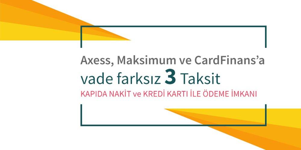 Axess, Maksimum, Cardfinans 3 Taksit